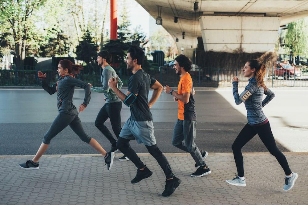 People running on the street