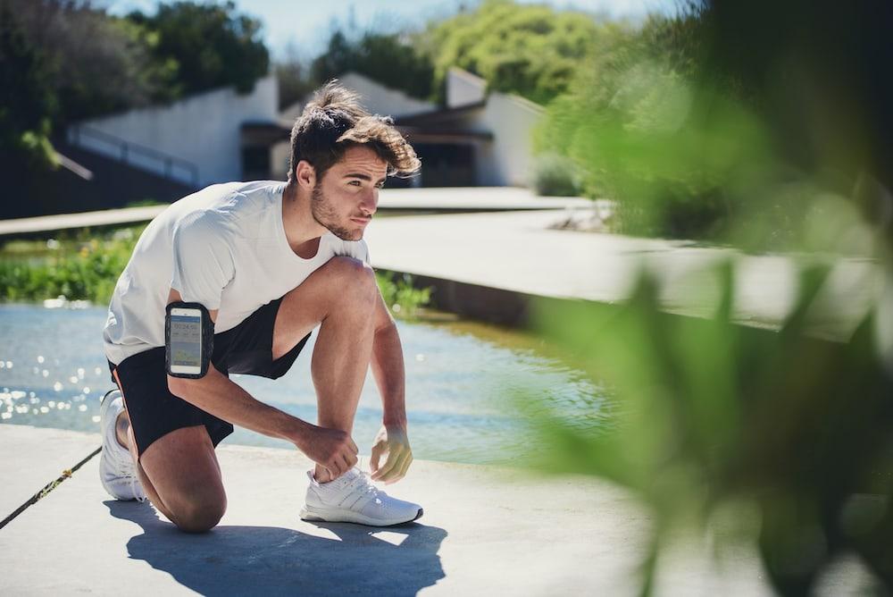 Man getting ready for a run
