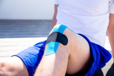 Taping jumper's knee