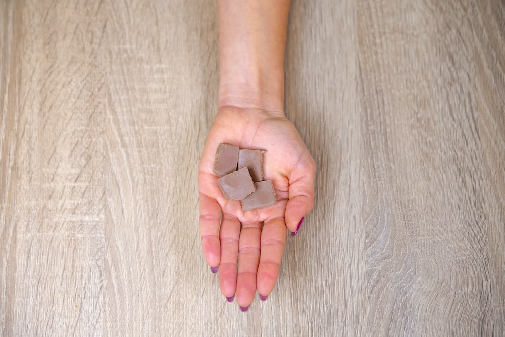 Milk chocolate portion size