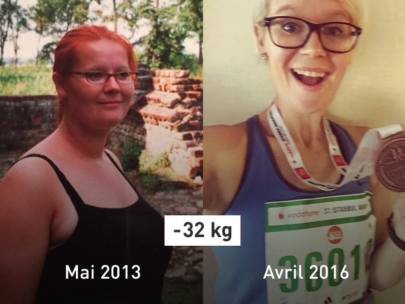 Photo de Manja avant et après.
