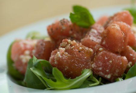 Wassermelonen-Feta Salat Rezept