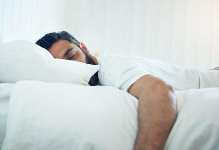Man sleeping after workout