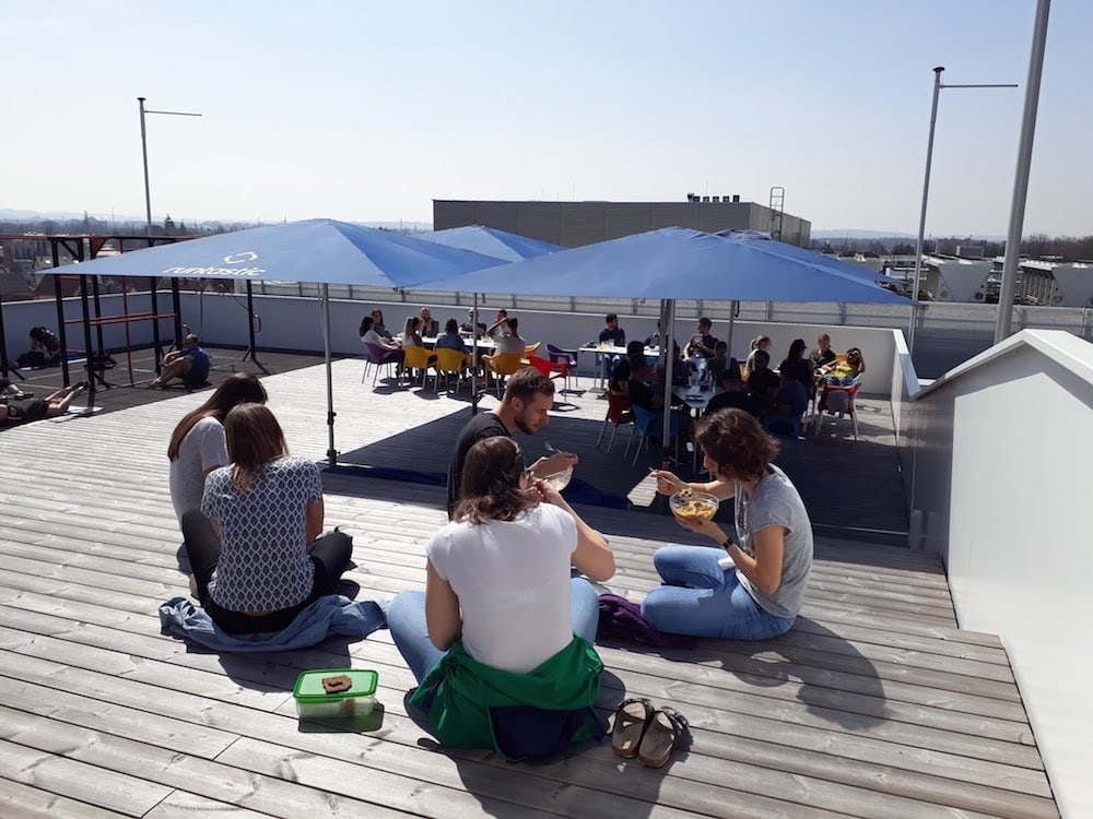 Terrace at the Runtastic office