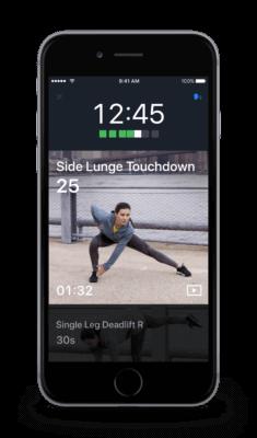 Screenshot outdoor workouts