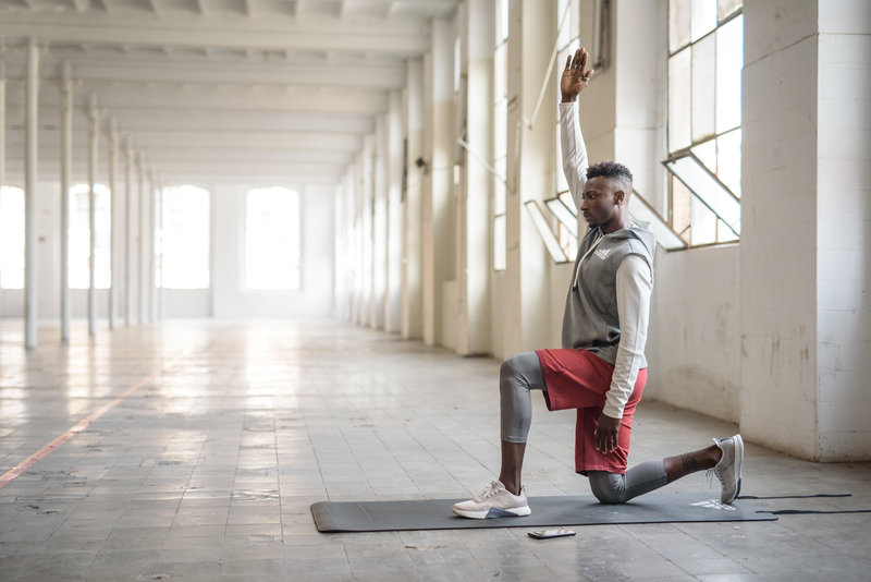 A man doing lunges