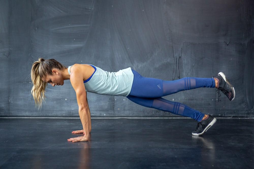 high plank knee lifts