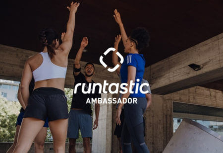 runtastic ambassador logo with people in background