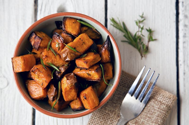 Sweet potatoes in a bowl.
