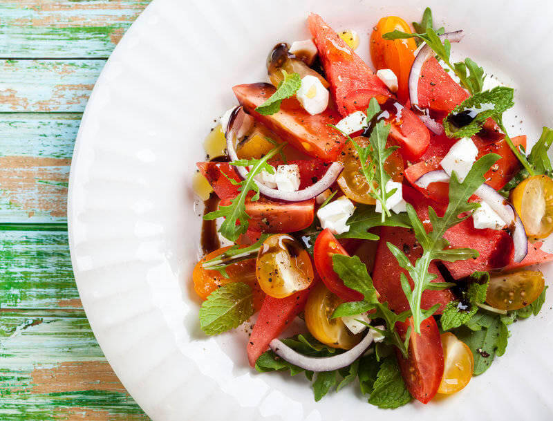 Mixed salad on a plate