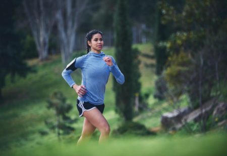Woman running outdoor