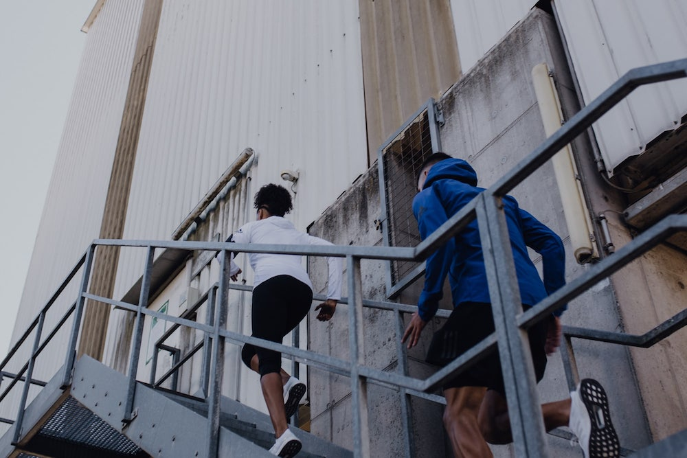 People running stairs