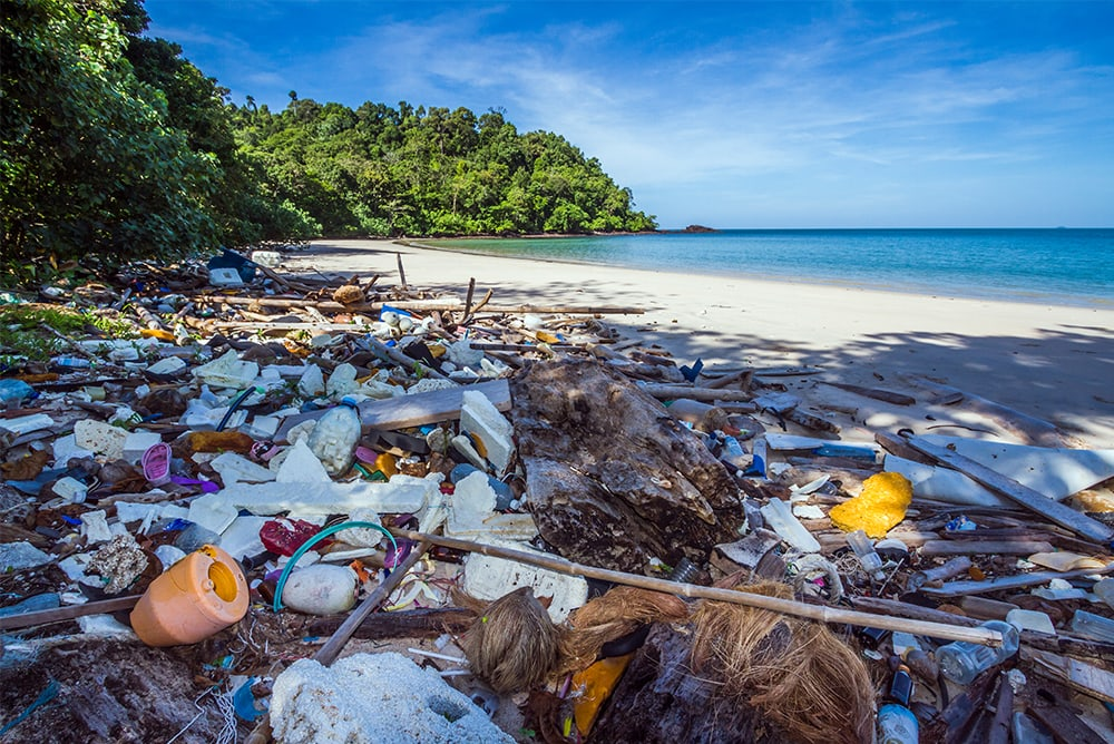 plastica nelle spiagge
