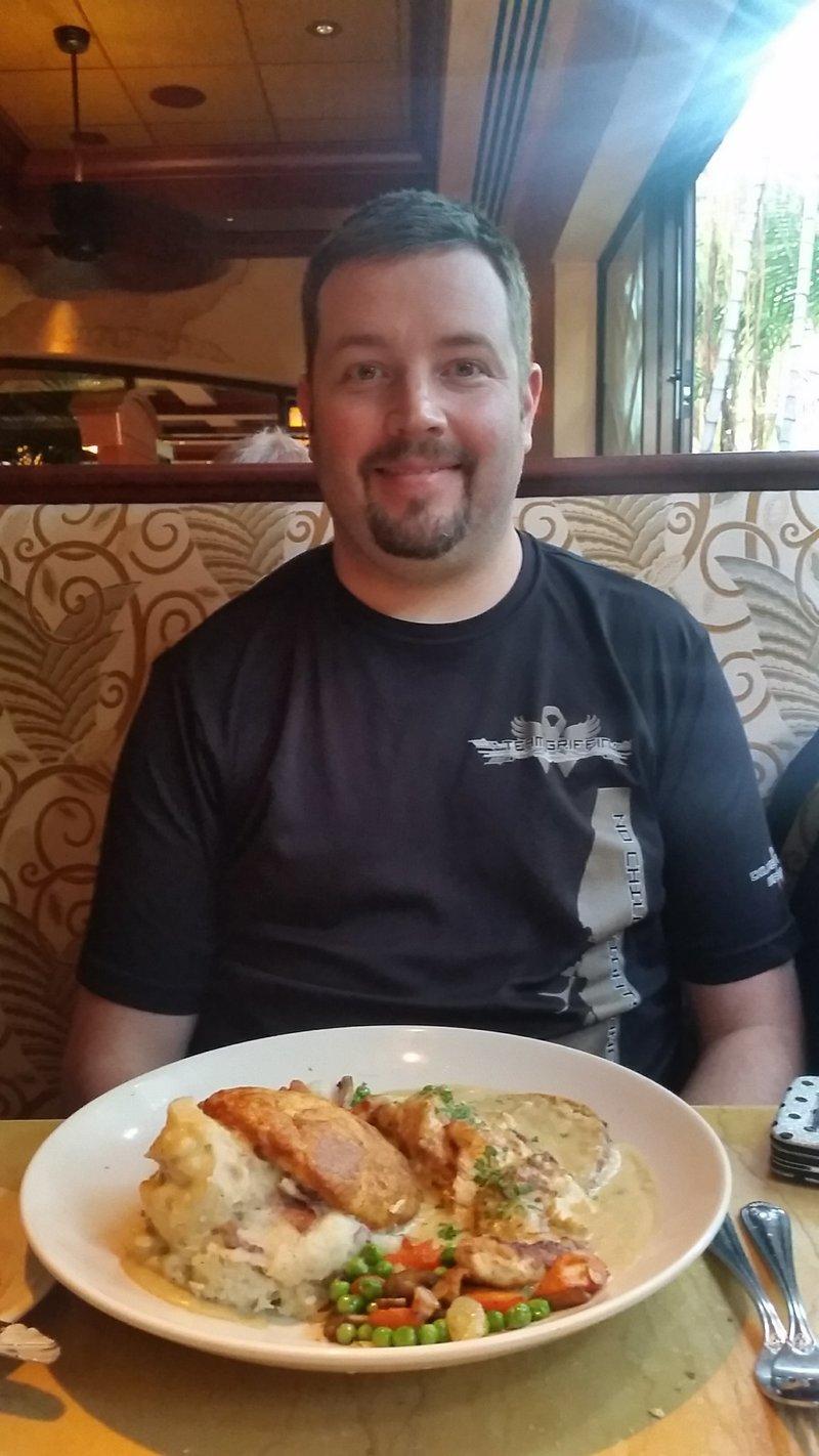 Travis at the restaurant.