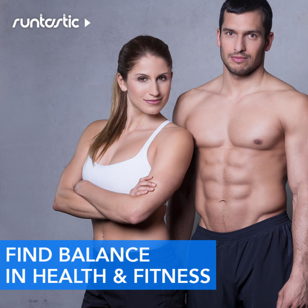 Two fitness athletes posing for the camera