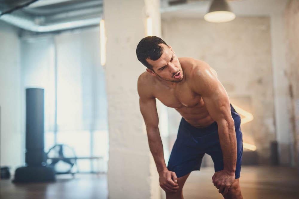 Man doing bodyweight exercise