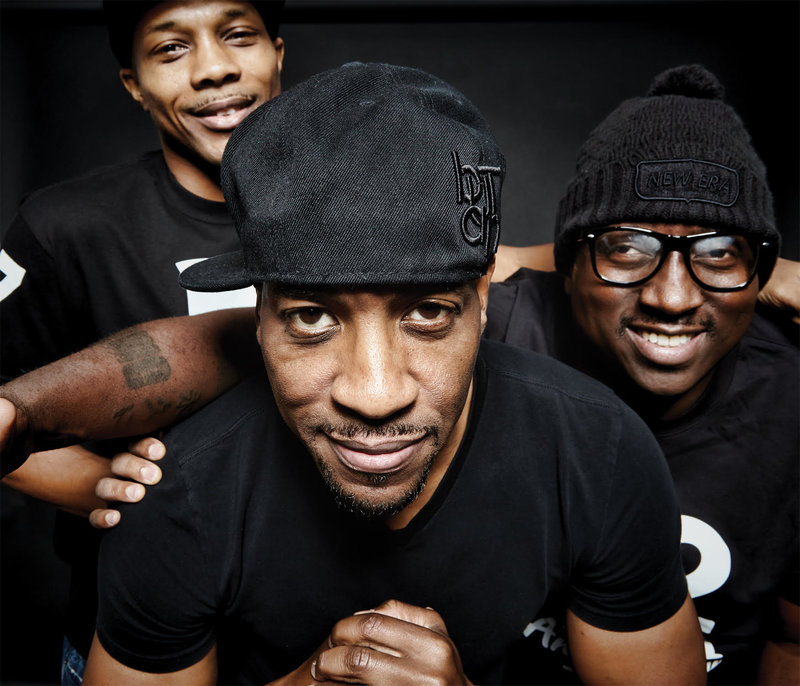 Masta ACE with his crew.