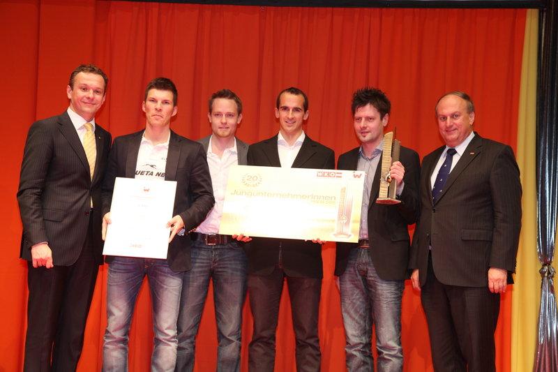 Runtastic founders winning their first award.