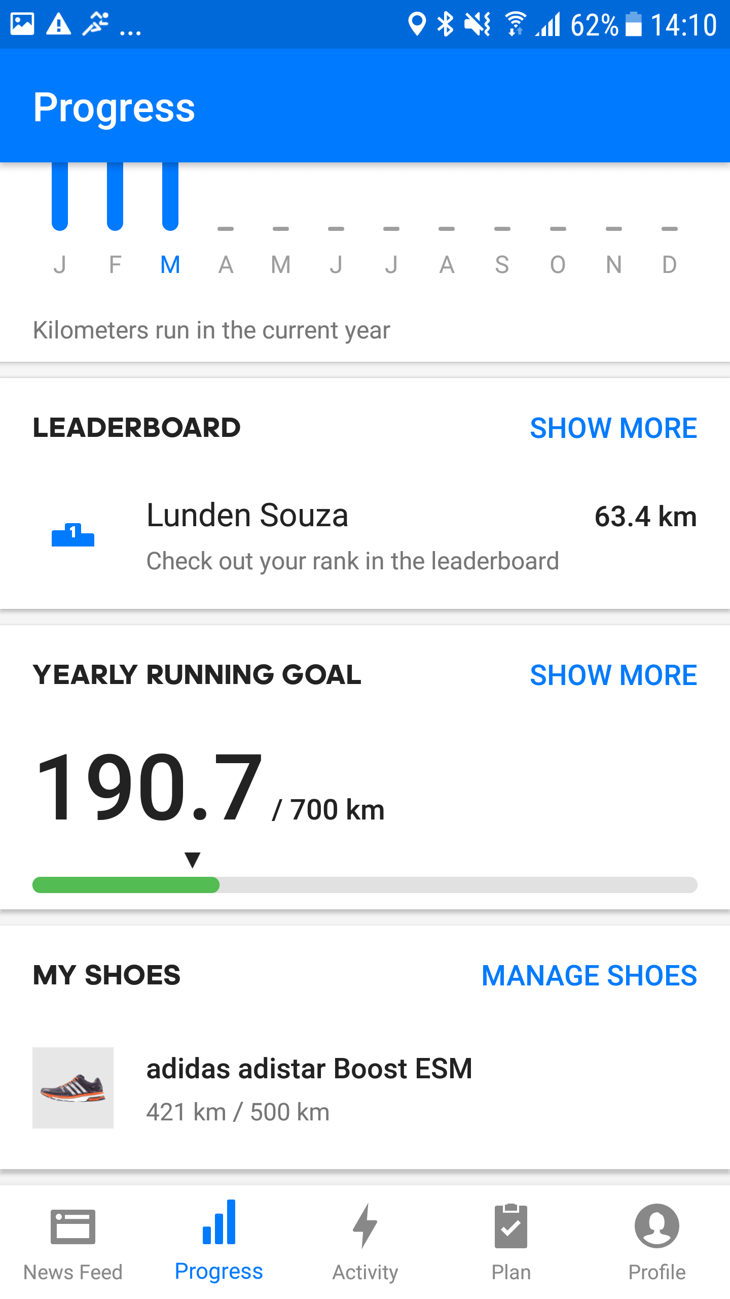 Screenshot Runtastic Shoetracking Android