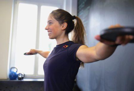 Woman doing arm circles