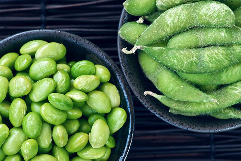 Comida proteica postentrenamiento: Edamame