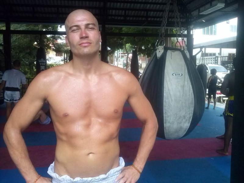 Daniel Dörrer beim Kickboxen
