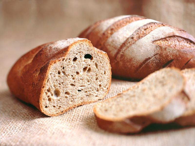 Abbildung von aufgeschnittenem Brot