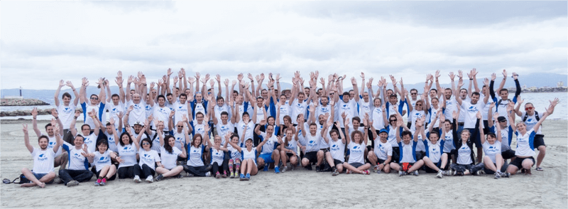 Runtastic Teambild am Strand
