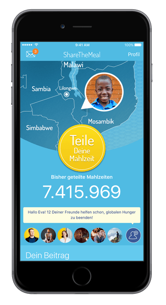 Share the meal app screen.