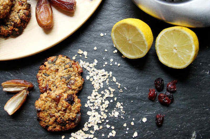 Kekse mit getrockneten Cranberries