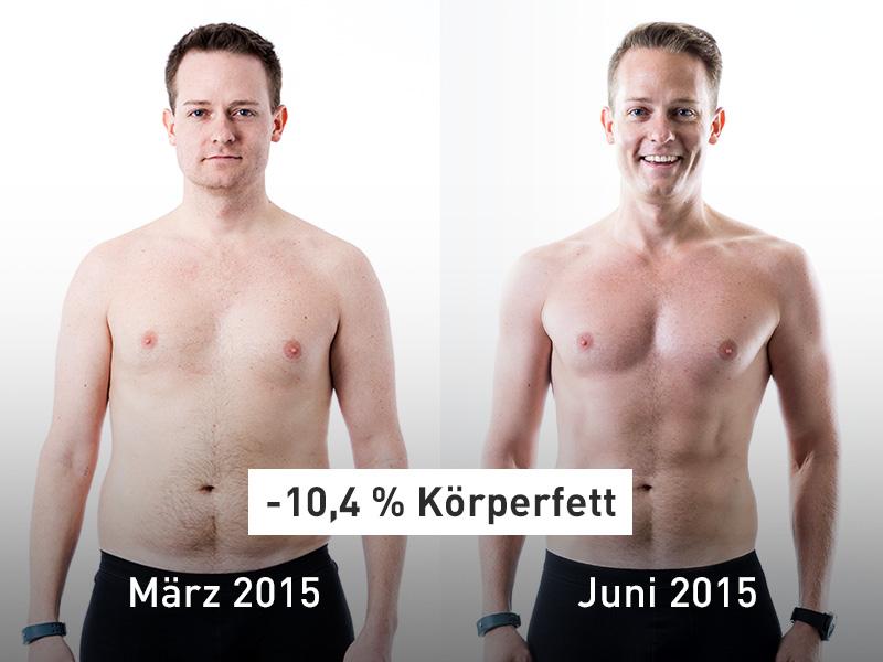 Runtastic Results Success Story Vorher/Nachher Bild von Rene.