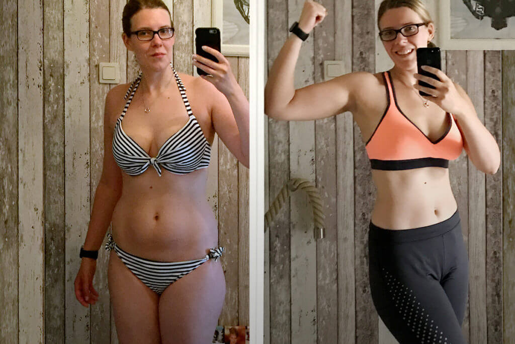 Mother lost 13 kg with bodyweight exercises