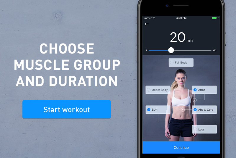 Workout Creator, recurso do Results Runtastic