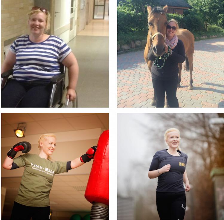 Jeune femme qui a perdu beaucoup de poids