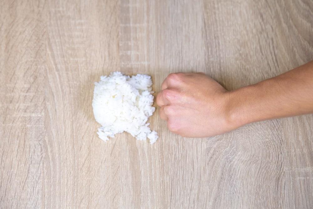 Uma porção de arroz