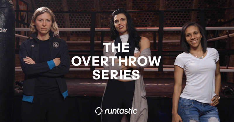 Three women of the Runtastic Overthrow Series.