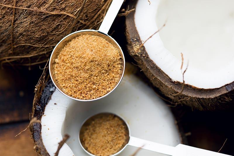 A big spoon full of coconut sugar