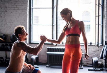 Man and woman athletes