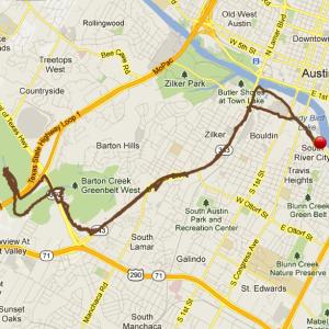 austin greenbelt runtastic map