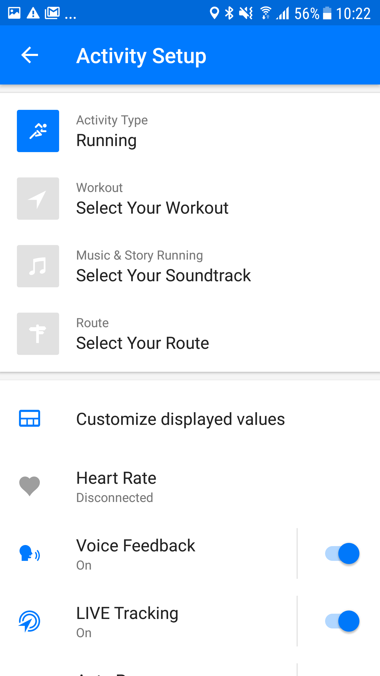 Screenshot Runtastic Live Cheering Android