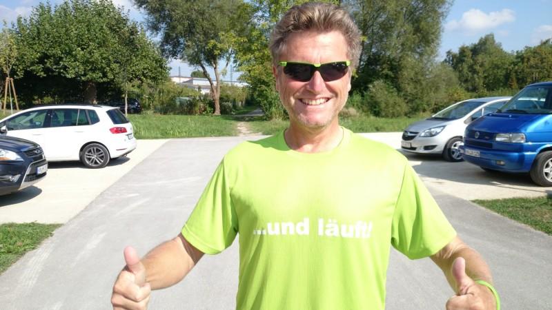 Harry Ohlig laeuft jeden Tag einen Halbmarathon