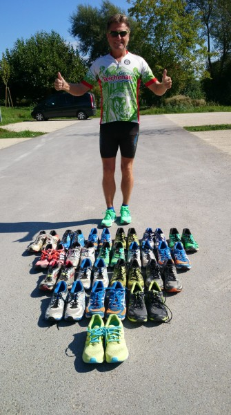 Harry Ohlig and 22 pairs of shoes