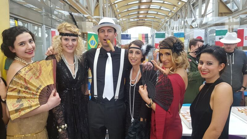 Group of Runtastics celebrating Fasching in the office
