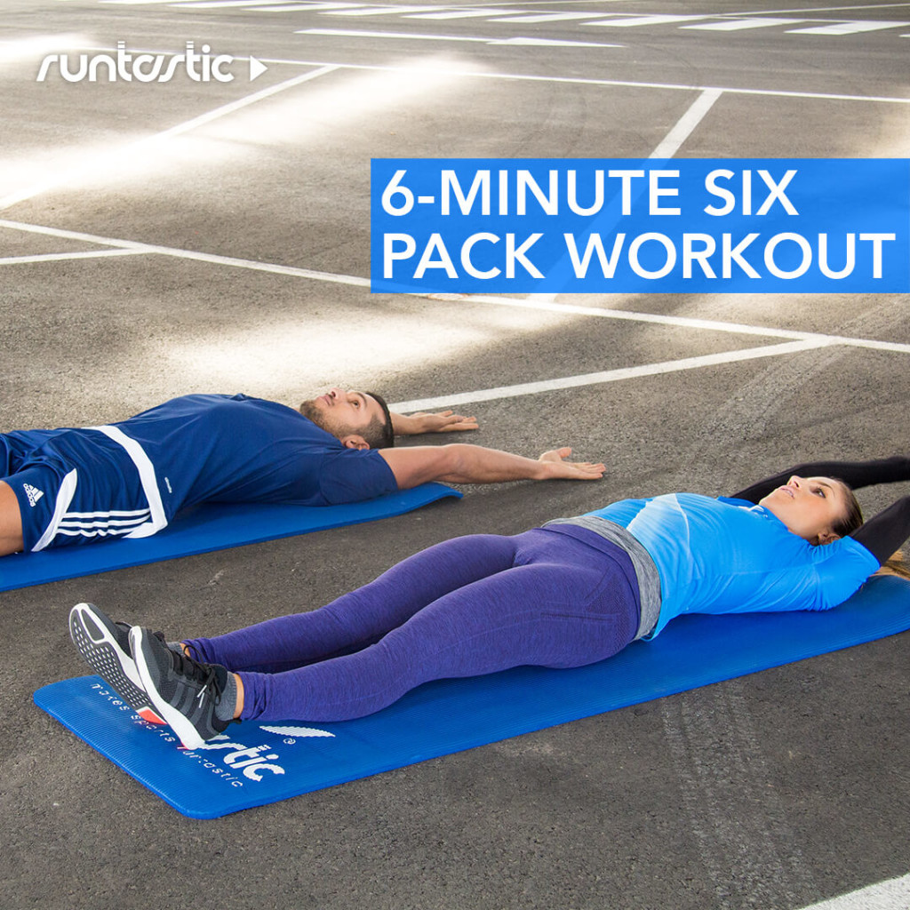 Two friends doing a 6 minute six pack workout.