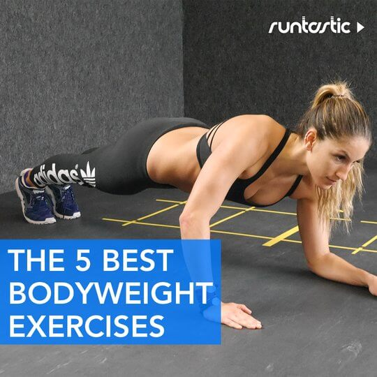 Fit woman doing a plank.