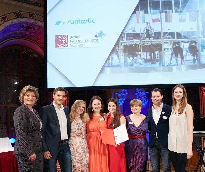 Runtastic at the Great Place To Work award.