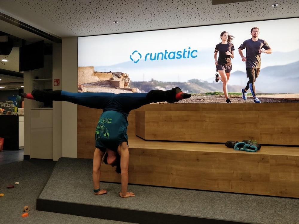 Woman doing a splits
