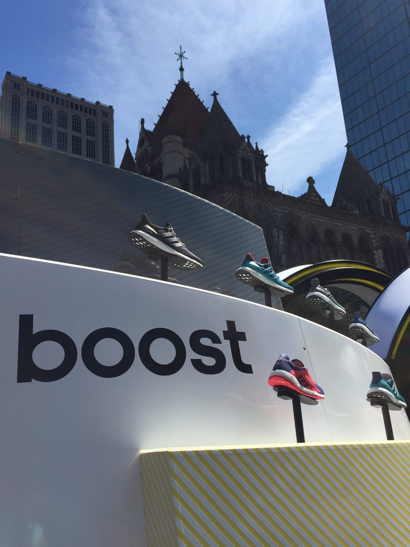 Picture of adidas sneakers in Boston.