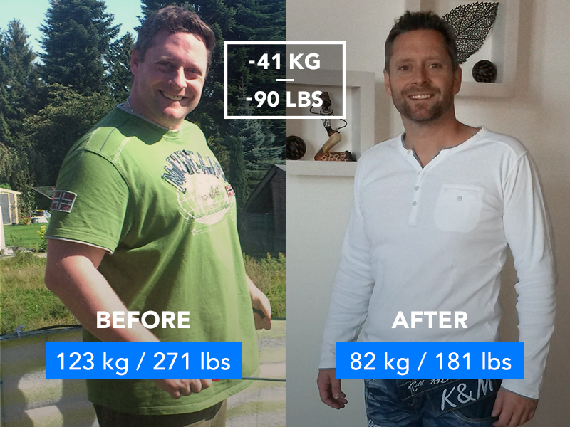 Before and after pic. Runtastic success story Patrick