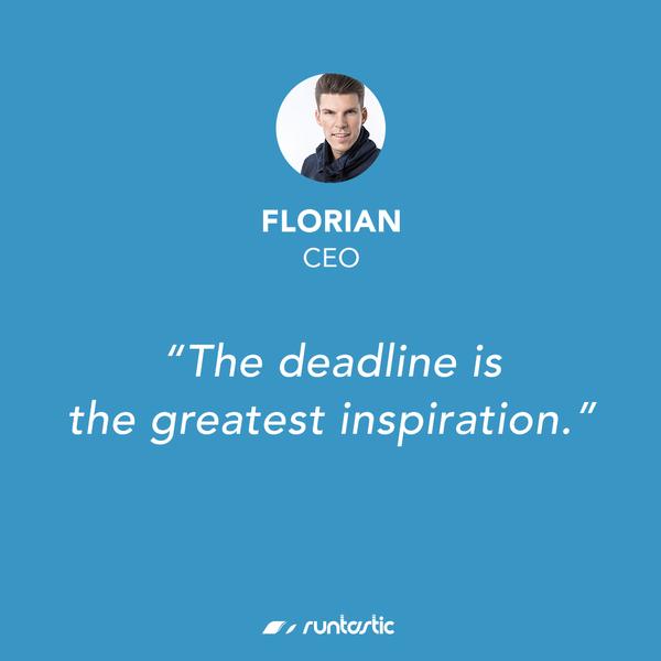 Quote from Runtastic CEO Florian Gschwandtner